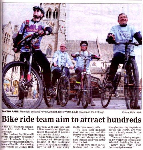 Durham Bid Ride Launch 2013